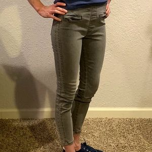 Free People Gray Pull On Jeans